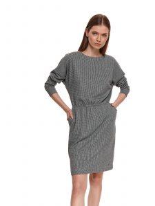 שמלה קצרה טופ סיקרט לנשים TOP SECRET Carolyn - אפור