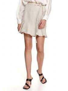 חצאית מיני טופ סיקרט לנשים TOP SECRET Class - בז'