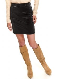 חצאית מיני טופ סיקרט לנשים TOP SECRET Coal - שחור