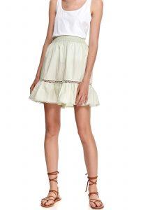 חצאית מיני טופ סיקרט לנשים TOP SECRET Crepe - ירוק בהיר