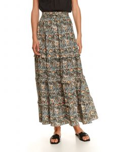 חצאית ארוכה טופ סיקרט לנשים TOP SECRET FRILLS - צבעוני כהה