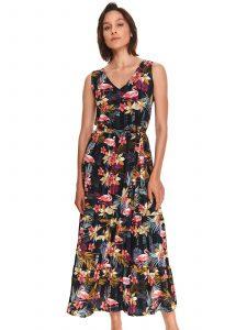 שמלה ארוכה טופ סיקרט לנשים TOP SECRET Flameng - צבעוני/שחור