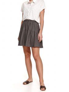 חצאית מיני טופ סיקרט לנשים TOP SECRET Gry - אפור
