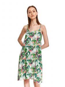 שמלה קצרה טופ סיקרט לנשים TOP SECRET Happy - ירוק