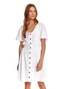 שמלה קצרה טופ סיקרט לנשים TOP SECRET Holy - לבן