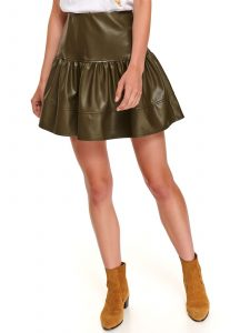 חצאית מיני טופ סיקרט לנשים TOP SECRET LADY - ירוק