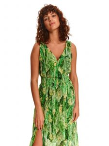 שמלה ארוכה טופ סיקרט לנשים TOP SECRET Leaves - ירוק