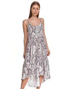 שמלה ארוכה טופ סיקרט לנשים TOP SECRET Python - אפור בהיר