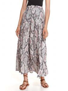 חצאית ארוכה טופ סיקרט לנשים TOP SECRET SNK - צבעוני בהיר