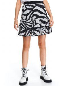 חצאית מיני טופ סיקרט לנשים TOP SECRET Safari - שחור