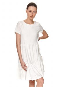 שמלה קצרה טופ סיקרט לנשים TOP SECRET Sarah - לבן
