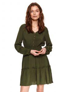 שמלה קצרה טופ סיקרט לנשים TOP SECRET Skylar - ירוק כהה