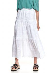חצאית ארוכה טופ סיקרט לנשים TOP SECRET Snow - לבן