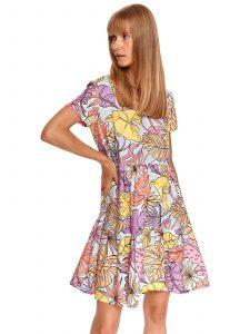 שמלה קצרה טופ סיקרט לנשים TOP SECRET Summer - צבעוני