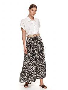 חצאית ארוכה טופ סיקרט לנשים TOP SECRET ZEB - שחור/לבן