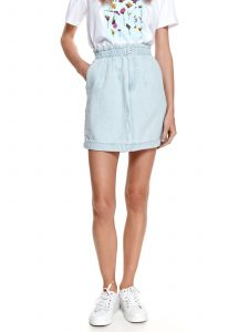 חצאית מיני טופ סיקרט לנשים TOP SECRET clear - תכלת