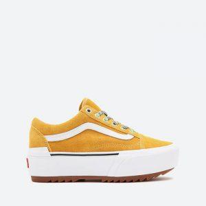 נעלי סניקרס ואנס לנשים Vans Old Skool Stacked - צהוב
