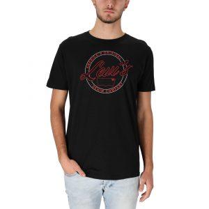 חולצת T ליוויס לגברים Levi's America - שחור
