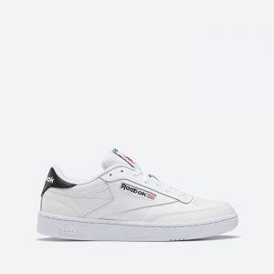נעלי סניקרס ריבוק לגברים Reebok Club C 85 - לבן/שחור