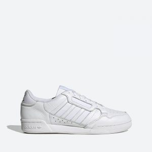 נעלי סניקרס אדידס לגברים Adidas Originals Continental 80 Stripes - לבן מלא