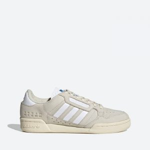 נעלי סניקרס אדידס לגברים Adidas Originals Continental 80 Stripes - אפור בהיר