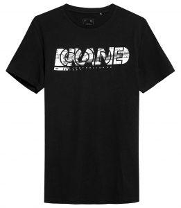 חולצת T פור אף לגברים 4F H4Z21 TSM010 - שחור הדפס