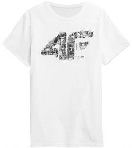 חולצת T פור אף לגברים 4F H4Z21 TSM012 - לבן