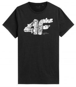 חולצת T פור אף לגברים 4F H4Z21 TSM012 - שחור