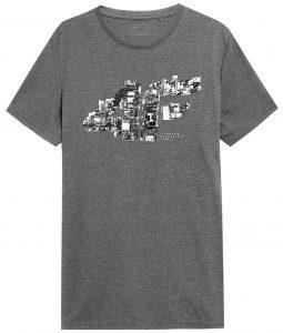 חולצת T פור אף לגברים 4F H4Z21 TSM012 - אפור