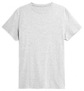 חולצת T פור אף לגברים 4F NOSH4 TSM352 - אפור בהיר