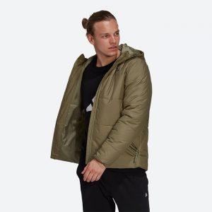 ג'קט ומעיל אדידס לגברים Adidas Jacket  Outdoor Bsc Hood Ins J - ירוק