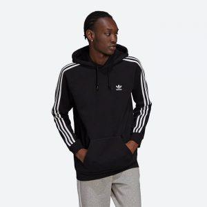 סווטשירט אדידס לגברים Adidas Originals 3-Stripes Hoody - שחור