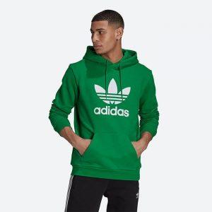 סווטשירט אדידס לגברים Adidas Originals Adicolor Classics Trefoil - ירוק
