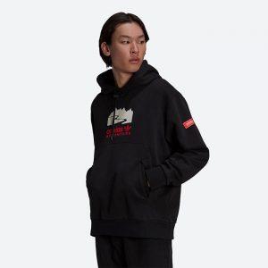 סווטשירט אדידס לגברים Adidas Originals Adventure Logo - שחור