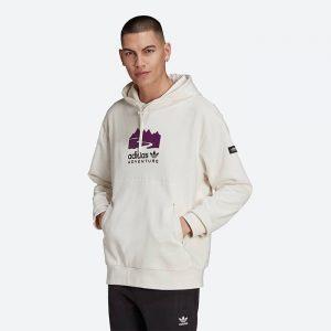 סווטשירט אדידס לגברים Adidas Originals Adventure Logo - לבן