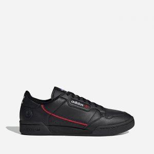 נעלי סניקרס אדידס לגברים Adidas Originals Continental 80 Vegan - שחור