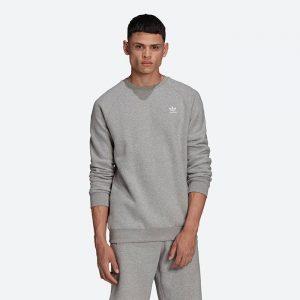 סווטשירט אדידס לגברים Adidas Originals Essential Crew - אפור