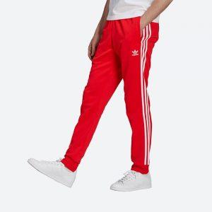 מכנסיים ארוכים אדידס לגברים Adidas Originals Adicolor Classics - אדום
