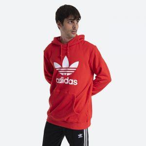 סווטשירט אדידס לגברים Adidas Originals Trefoil Adicolor Classics  - אדום