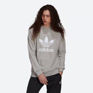 סווטשירט אדידס לגברים Adidas Originals Trefoil Crew - אפור