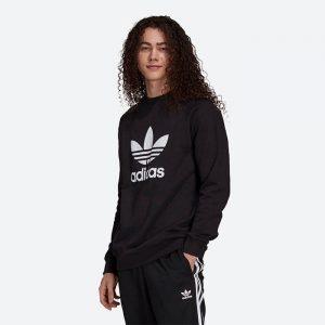 סווטשירט אדידס לגברים Adidas Originals Trefoil Crew - שחור