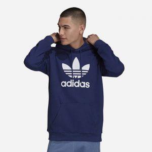 סווטשירט אדידס לגברים Adidas Originals Trefoil Hoody - כחול