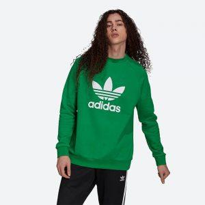 סווטשירט אדידס לגברים Adidas Originals Trefoil - ירוק