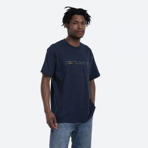 חולצת T קארהארט לגברים Carhartt WIP Shadow Script - כחול