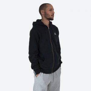 סווטשירט קונברס לגברים Converse Embroidered Star Chevron Full-Zip Hoodie - שחור