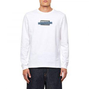 חולצת T דיזל לגברים DIESEL T-Just X41 - לבן