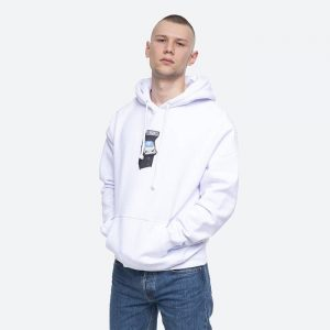 סווטשירט HUF לגברים HUF Arcade P/O - לבן