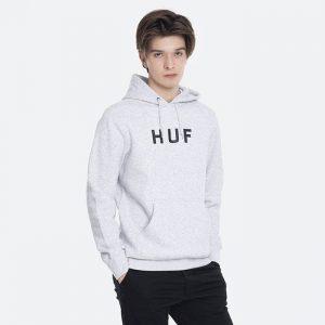 סווטשירט HUF לגברים HUF  OG Logo Hoodie - לבן