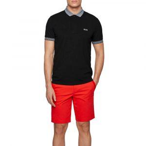 חולצת פולו הוגו בוס לגברים HUGO BOSS Chest Logo - שחור