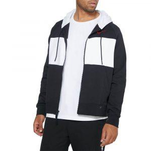 סווטשירט נייק לגברים Nike Air Fleece Hoodie Full Zip - שחור/לבן